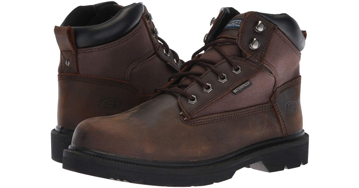 c1525ffb2da Skechers Work Brown Makanix - Mennot for men