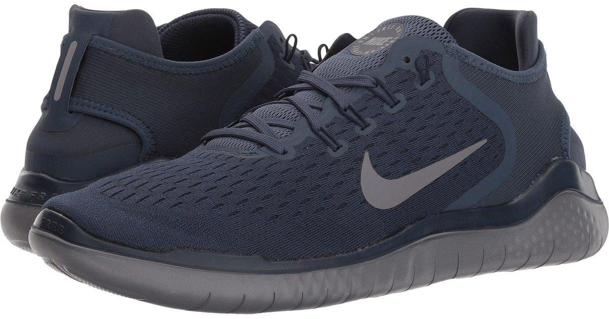 8b956e6778844 Lyst - Nike Free Rn 2018 (wolf Grey white volt) Men s Running Shoes in Blue  for Men