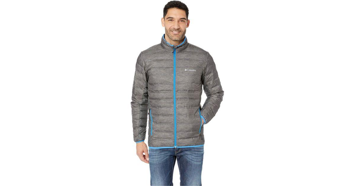 1b0c97177 Columbia Gray Lake 22 Down Jacket (charcoal Heather Print/azure Blue) Coat  for men