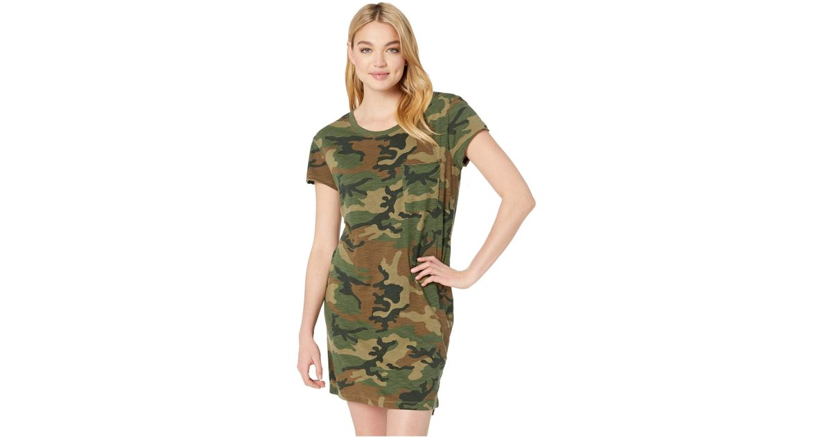 6d94dc54cc71 Sanctuary One-pocket T-shirt Dress (love Camo) Women's Dress in Green -  Save 11% - Lyst