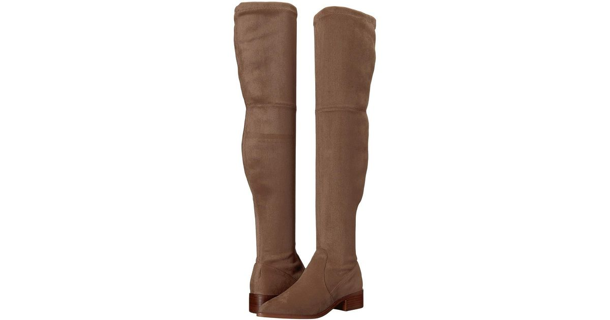a213e4c83bd Lyst - Steve Madden Jestik Over The Knee Boot (taupe) Women s Pull-on Boots  in Brown