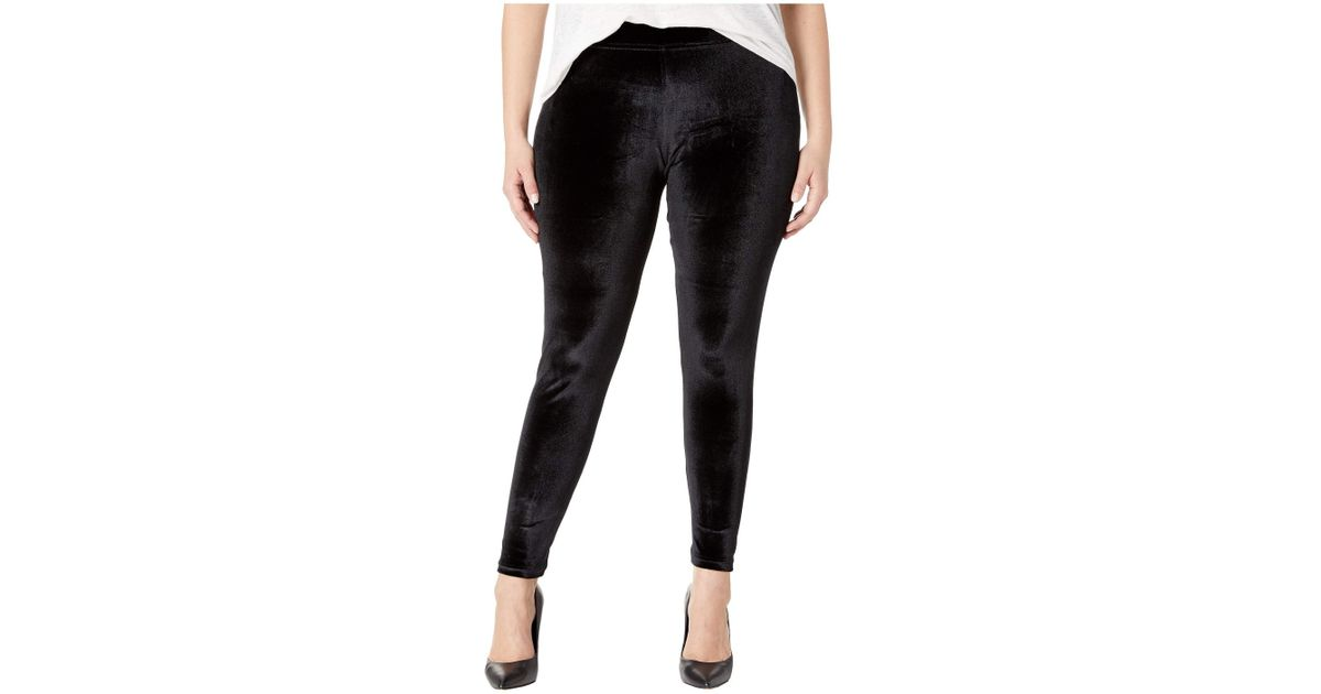 b6760ba405b40 Lyst - Hue Plus Size Velvet Leggings in Black - Save 53%