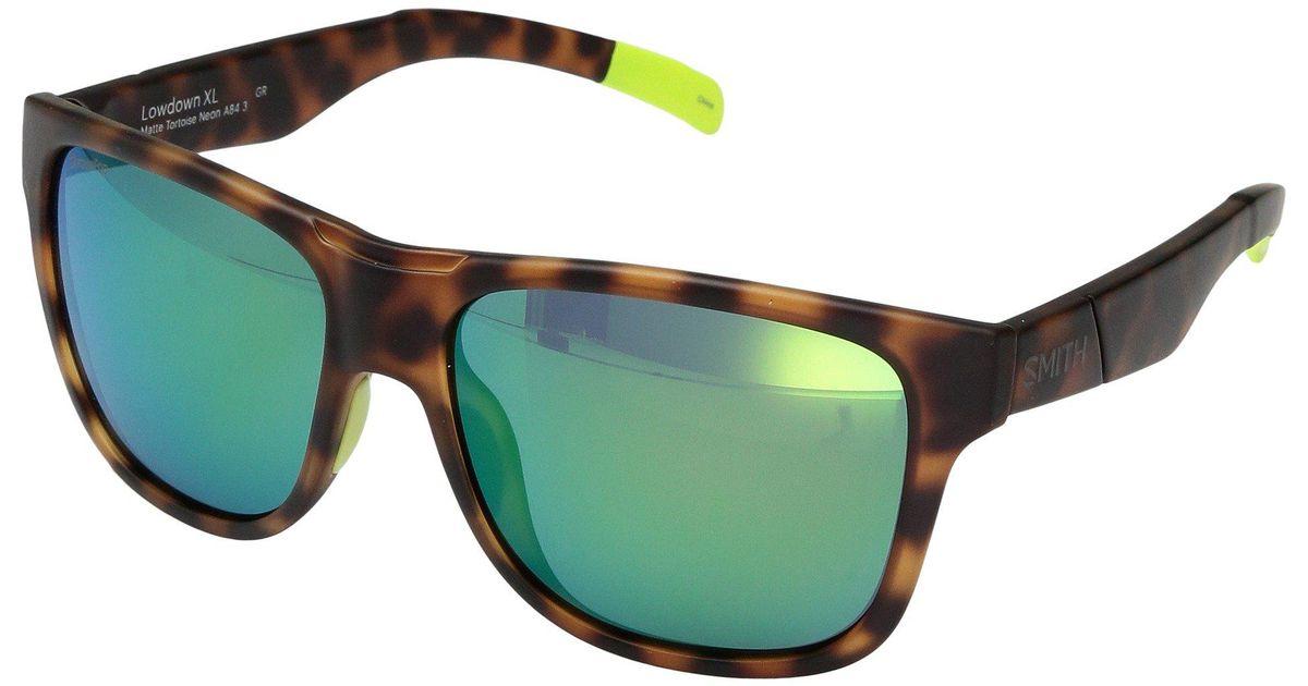 114598f34ff Lyst - Smith Optics Lowdown Xl (matte Tortoise Neon chromapop Sun Green  Mirror Lens) Fashion Sunglasses for Men