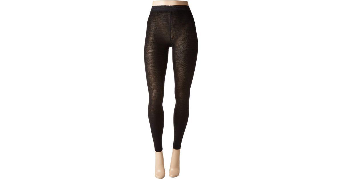 b874dc42a Falke Soft Merino Leggings (black) Hose in Black - Lyst