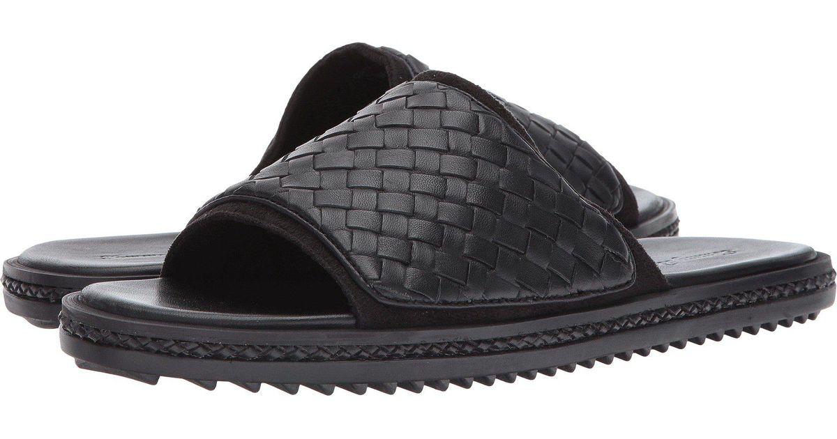 3ad2660368e2 Lyst - Tommy Bahama Shore Crest Slide (dark Brown Woven) Men s Sandals in  Black for Men - Save 35%