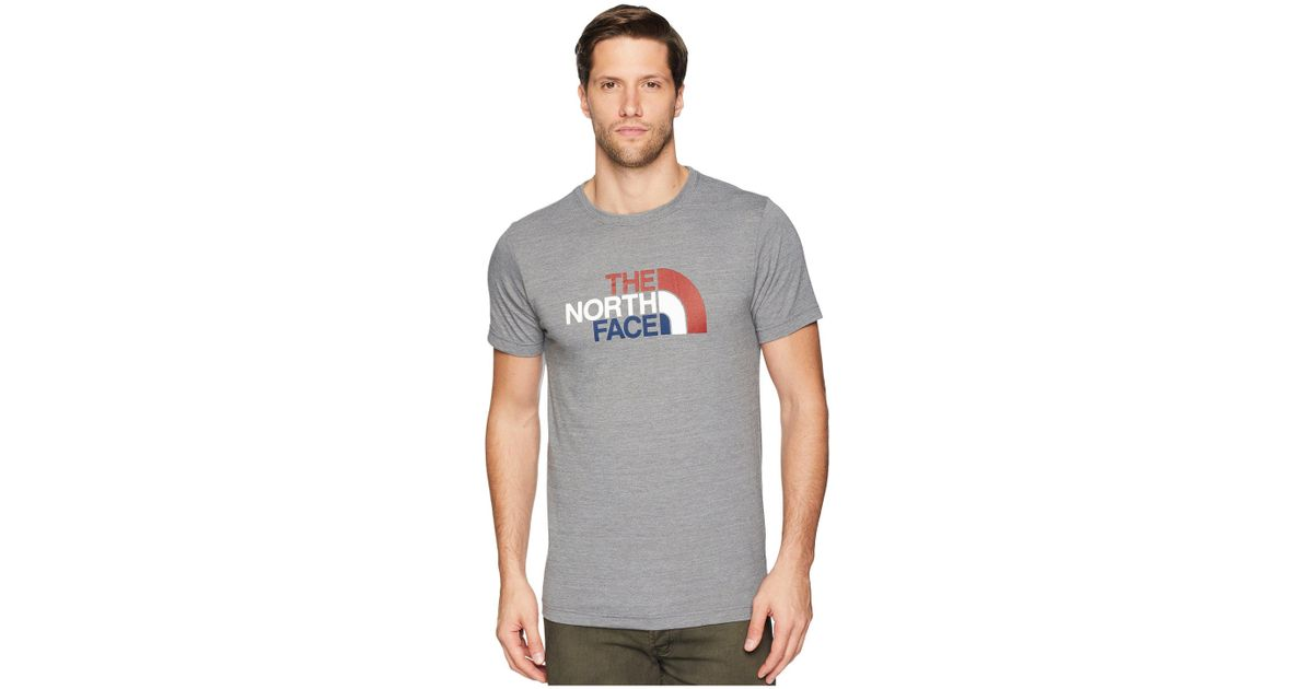 cadfbf3d3 The North Face Gray Americana Tri-blend Tee (tnf Medium Grey Heather) Men's  T Shirt for men