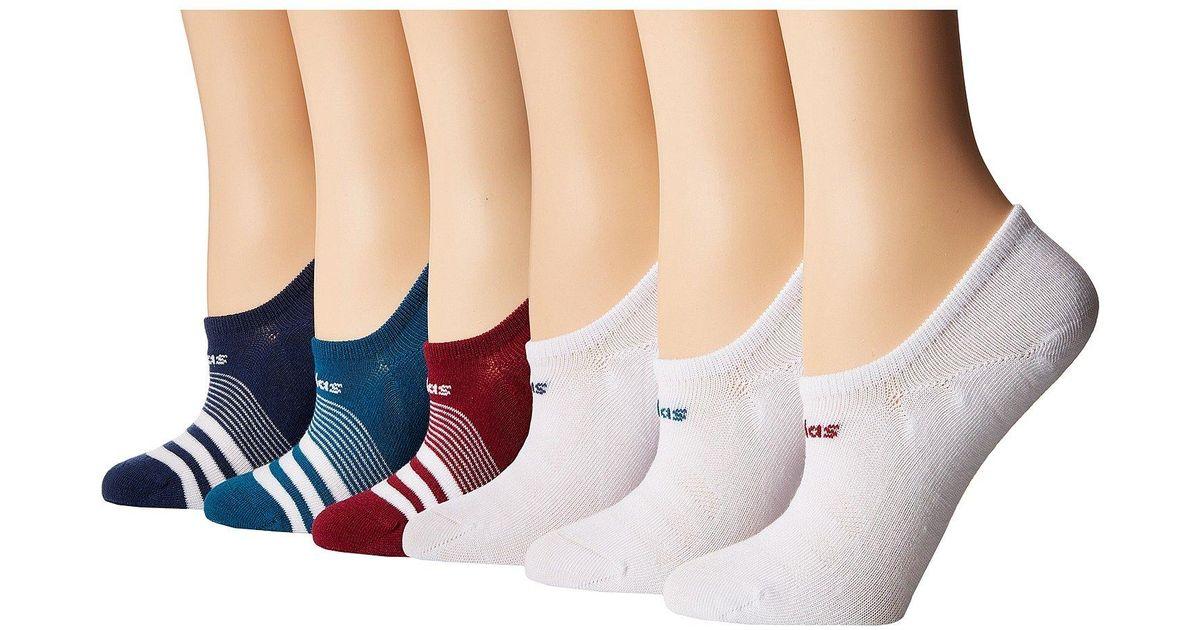 ec9fbf0c21 Adidas Superlite Super No Show Socks 6-pack (black/white Marl/real  Magenta/black/active Blue) Women's No Show Socks Shoes