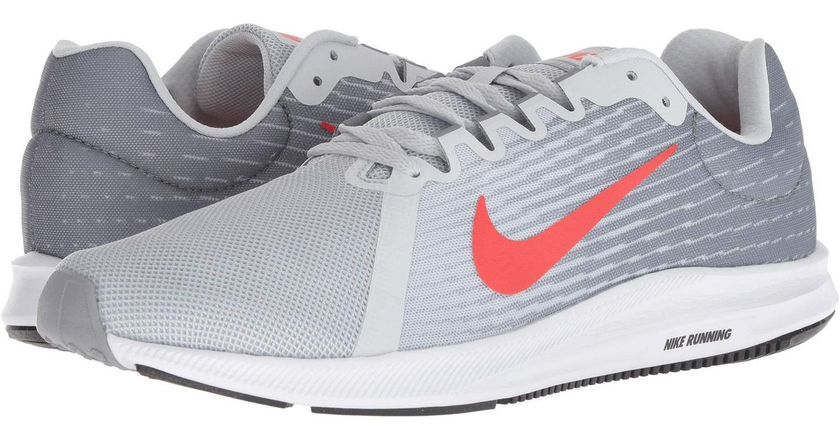 7105a07c4c2c6 Lyst - Nike Downshifter 8 (gym Red vast Grey bright Crimson black) Men s  Running Shoes in Gray for Men