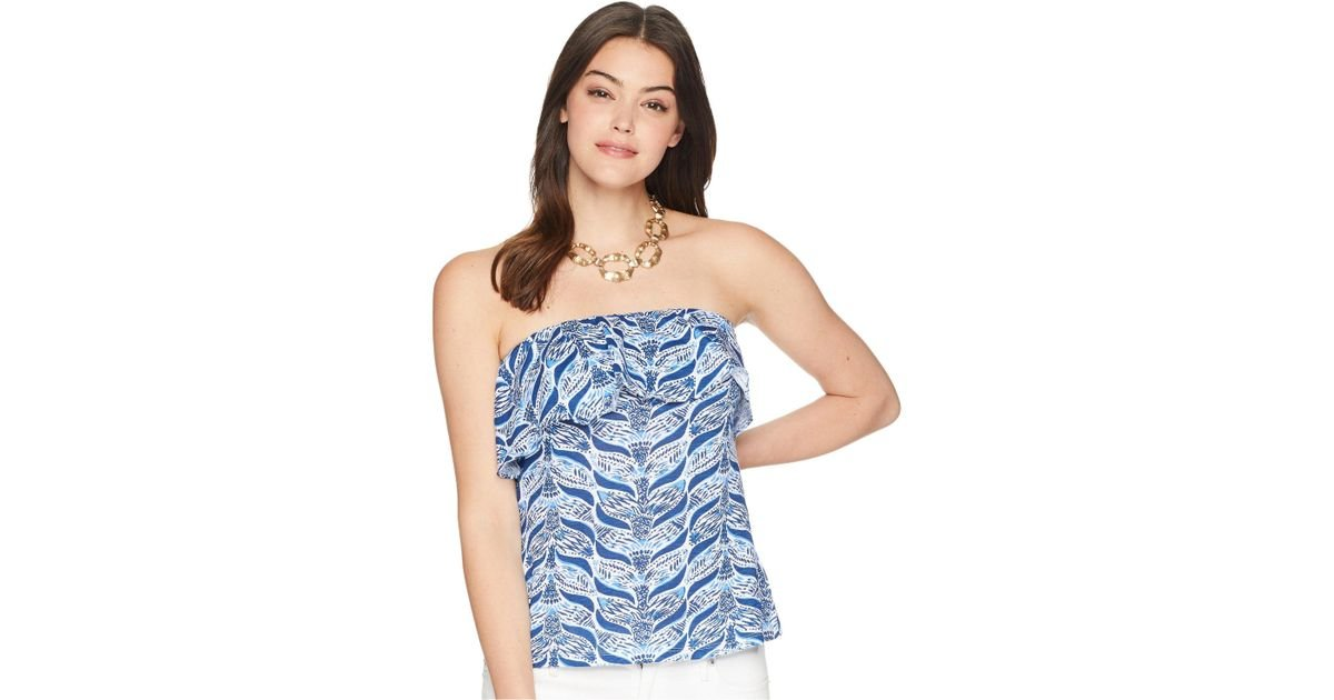 2d82f0a53d Lyst - Lilly Pulitzer Wiley Tube Top (resort White A Mermaids Tail) Women s  Sleeveless in Blue