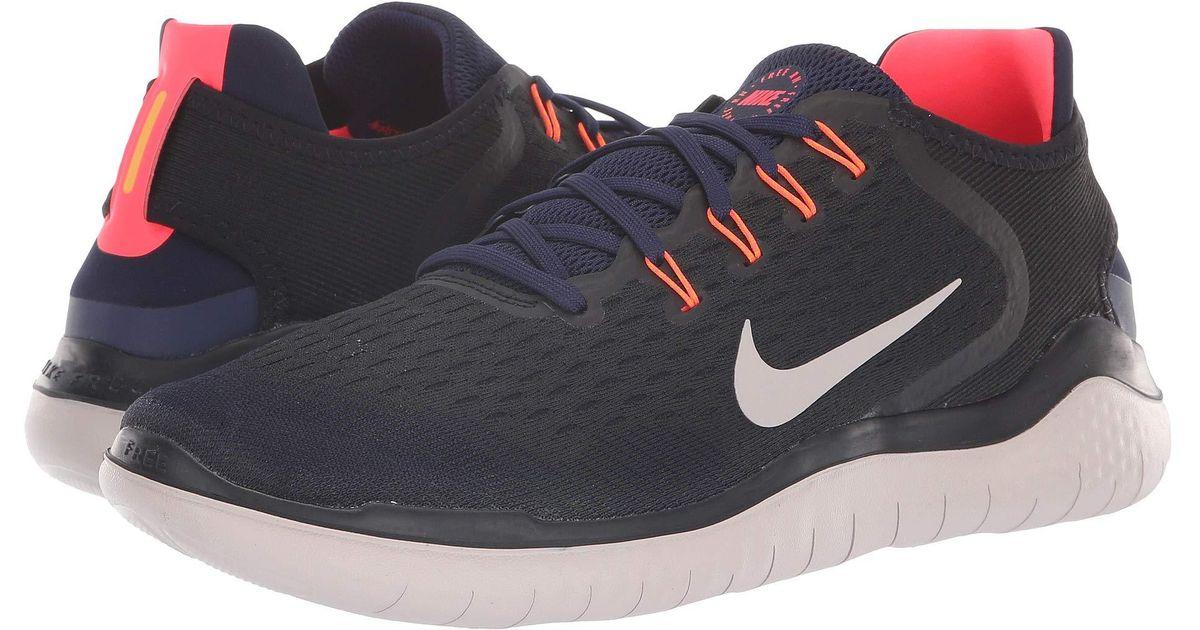 Nike Multicolor Free Rn 2018 (black/white) Men's Running Shoes for men