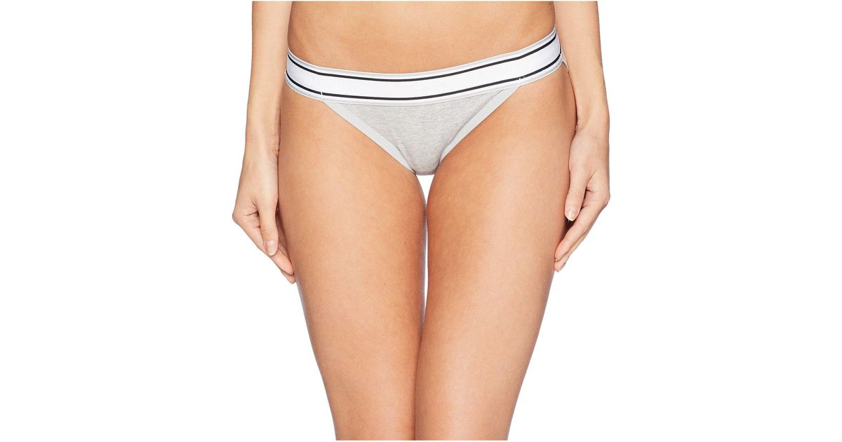 91a489ae9 Jockey Retro Stripe String Bikini (stone Washed Floral) Women s Underwear  in Gray - Lyst
