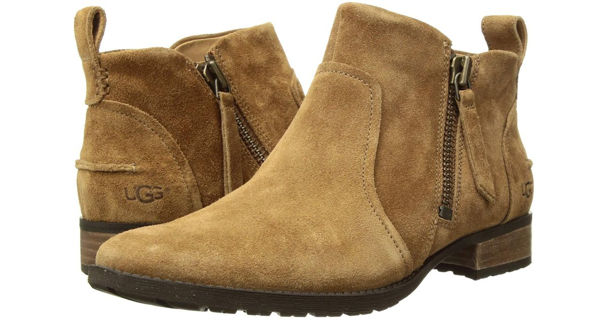 a7e974500cb Ugg Brown Aureo Boot (chestnut Suede) Zip Boots