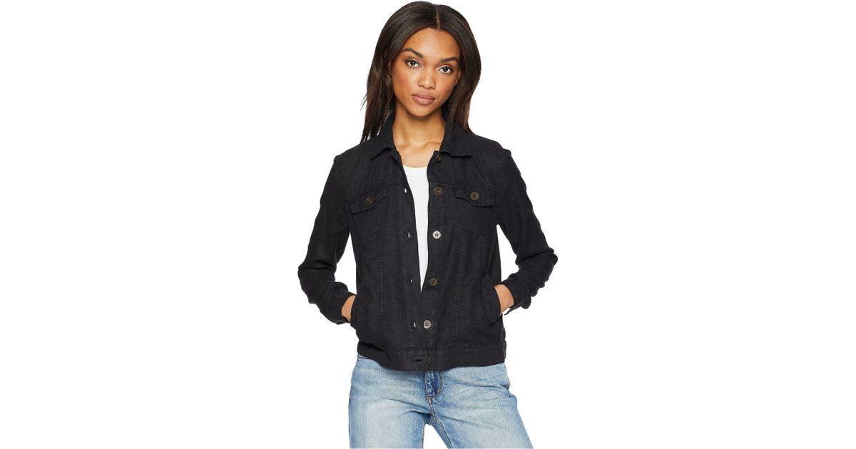 cheap price elegant in style yet not vulgar Michael Stars Black Woven Linen Jean Jacket