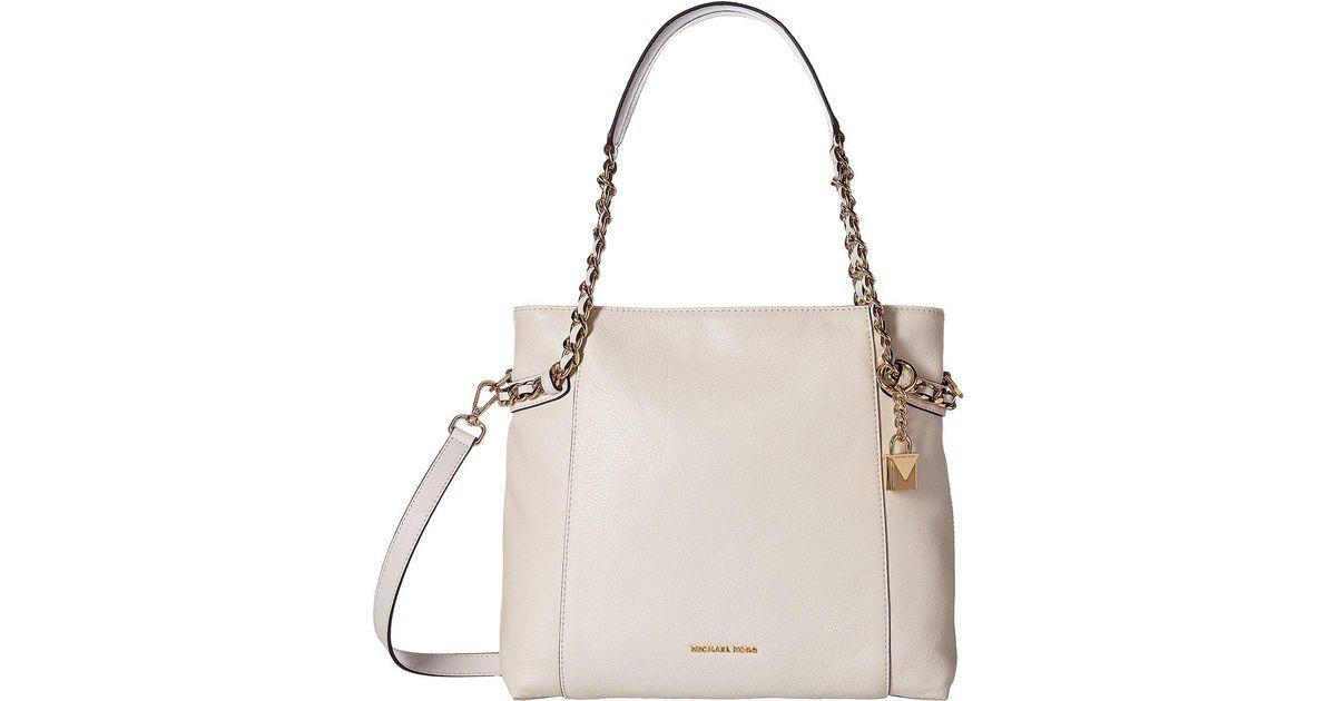 Michael Kors Remy Medium Shoulder Tote (Optic White) Tote Handbags dqULuwg