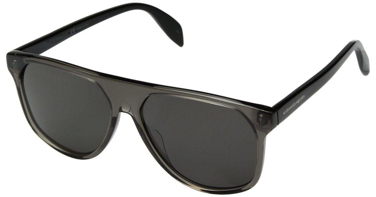 004 BROWN//BLACK Sunglasses Alexander McQueen AM 0146 S