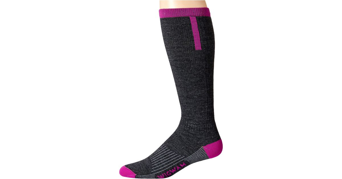 0d0668f65f4 Lyst - Wigwam Snow Fusion Light (hot Magenta) Crew Cut Socks Shoes in Black  for Men
