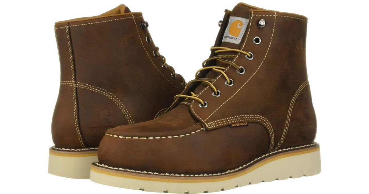 f20c33bda925 Lyst - Carhartt 6 Moc Toe Wedge Steel Toe (dark Bison Oil Tanned) Men s  Work Boots in Brown for Men