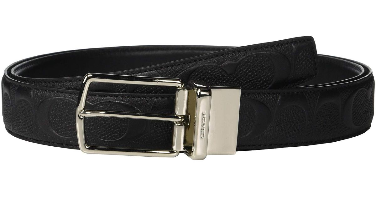 51205052ecf33 Lyst - COACH Modern Harness Cut To Size reversible Signature Crossgrain Belt  (black) Men s Belts in Black for Men