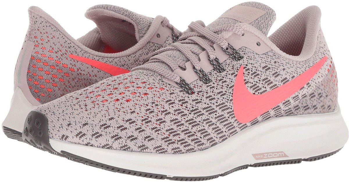 the latest c09af b7abc Nike Pink Air Zoom Pegasus 35 (black/oil Grey/white) Women's Running Shoes