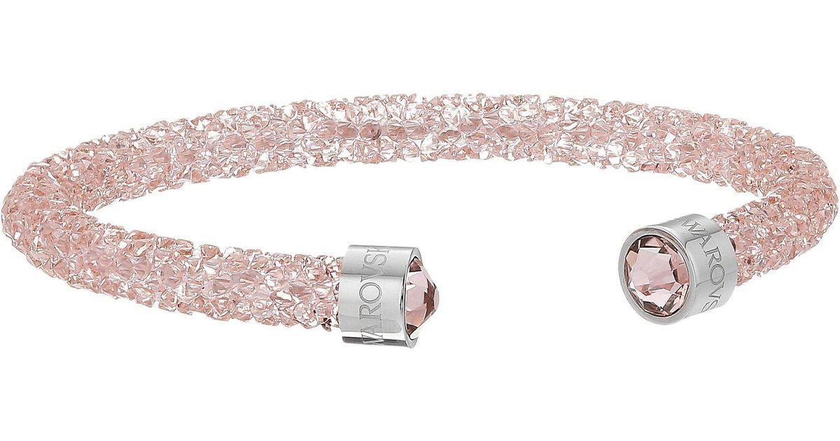 Swarovski Pink Crystaldust Cuff Bracelet