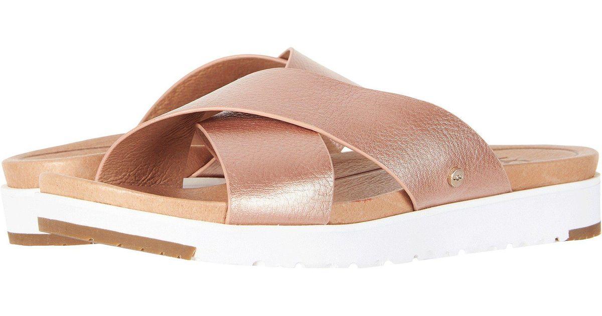 9fc5fad71ab Ugg Pink Kari Metallic (rose Gold) Women's Sandals