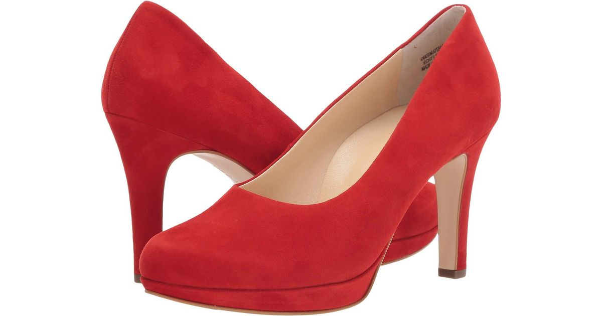 1ce4c3665bf Paul Green Sabrina Pump (red Suede) 1-2 Inch Heel Shoes