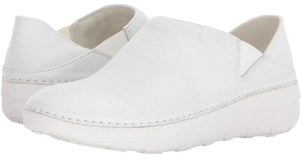7c5235440479 Lyst - Fitflop Superloafer (leather) Loafers in White