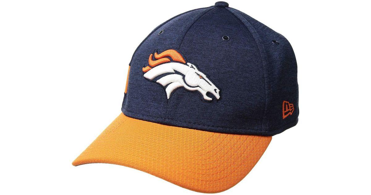 adf0e7e8b3a Lyst - KTZ 39thirty Official Sideline Home Stretch Fit - Denver Broncos  (blue orange) Caps in Blue for Men