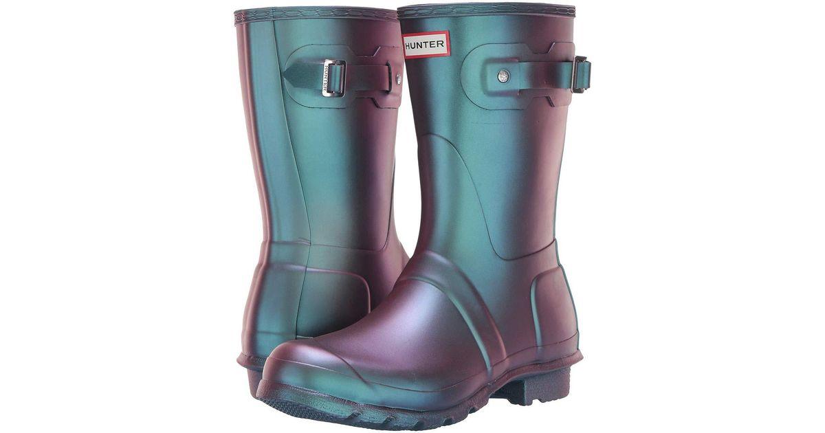 8c8a31ae4 HUNTER Original Short Nebula (wave Blue) Women's Rain Boots in Blue - Lyst