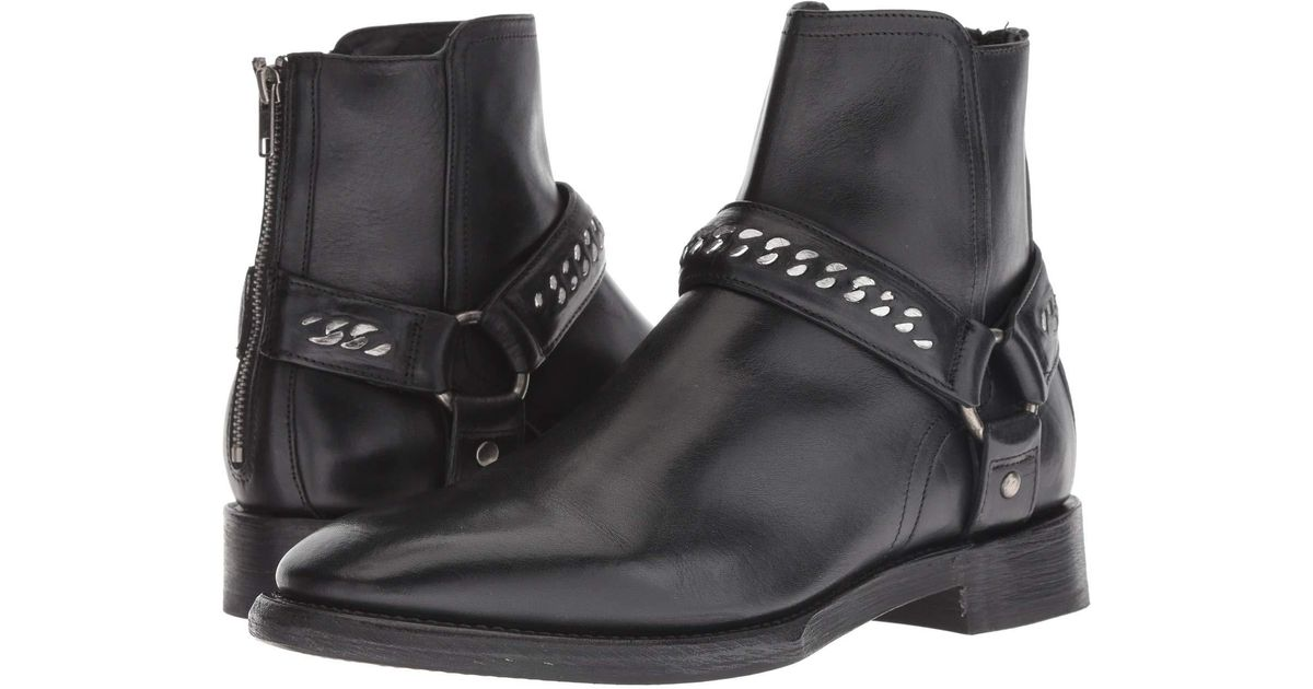 a2491316551d Frye Weston Chain Harness Backzip Fashion Boot in Black for Men - Save 42%  - Lyst