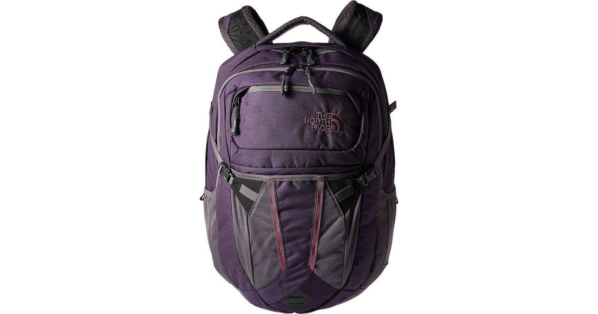 a998a3ffa The North Face Women's Recon (dark Eggplant Purple Dark Heather/rabbit  Grey) Backpack Bags
