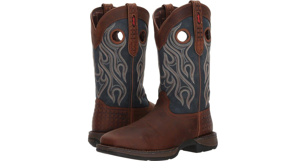 9e6d15316d9 Durango Brown Rebel 12 Western Wp Square Steel Toe for men