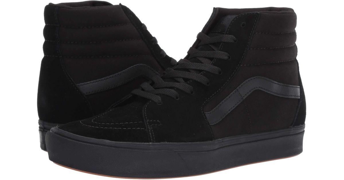 11f6114eb5f Lyst - Vans Comfycush Sk8-hi ((classic) Black true White) Athletic Shoes in  Black for Men