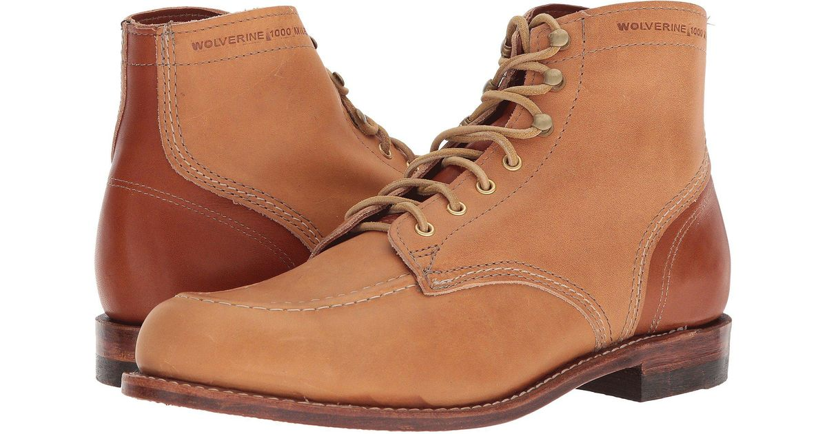 def019f3d6c Wolverine Brown 1000 Mile 1940 Boot (black Leather) Men's Lace-up Boots for  men