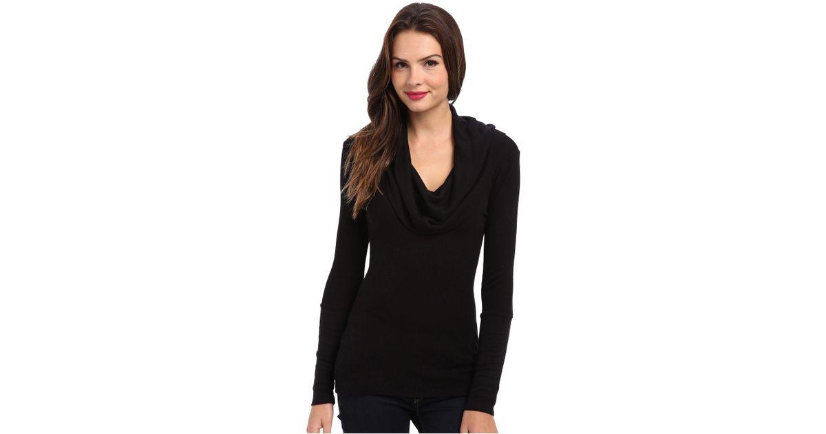 c7e77e51bf6 Splendid Thermal L/s Cowl Neck Tunic (black) Women's Long Sleeve Pullover  in Black - Lyst