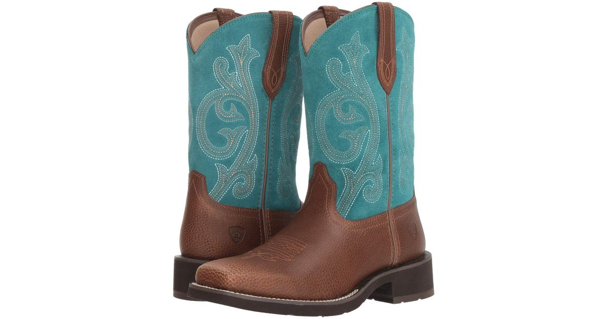 7cfbee35dc3 Ariat - Prim Rose (pebbled Brown/turquoise) Cowboy Boots - Lyst