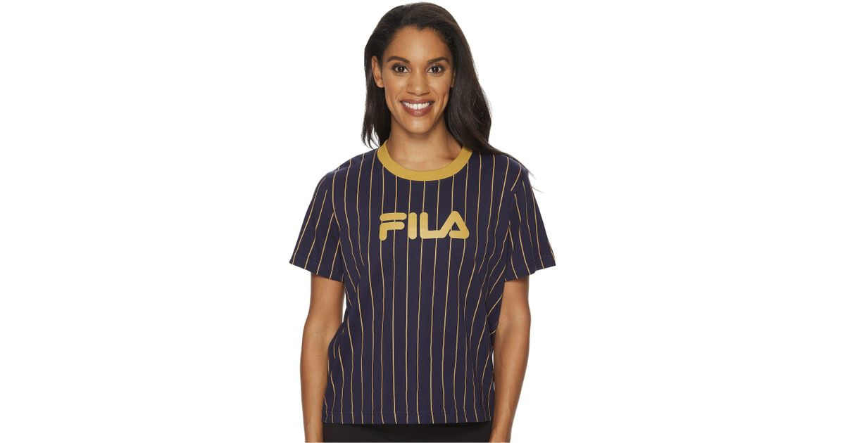 442b8bc47169 Lyst - Fila Lonnie Pinstripe T-shirt in Blue