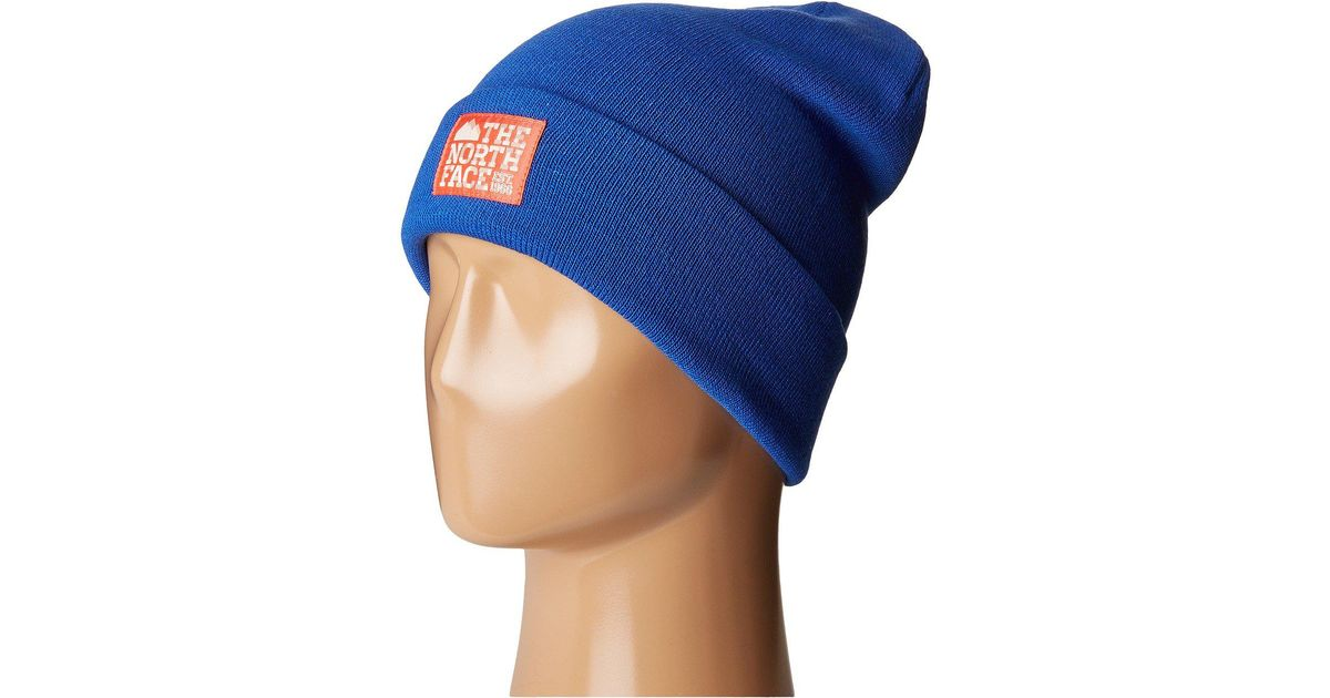 ffa124899 The North Face Blue Dock Worker Beanie for men