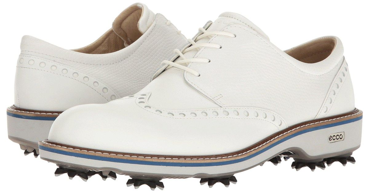 Ecco Leather Golf Lux Shoes in White
