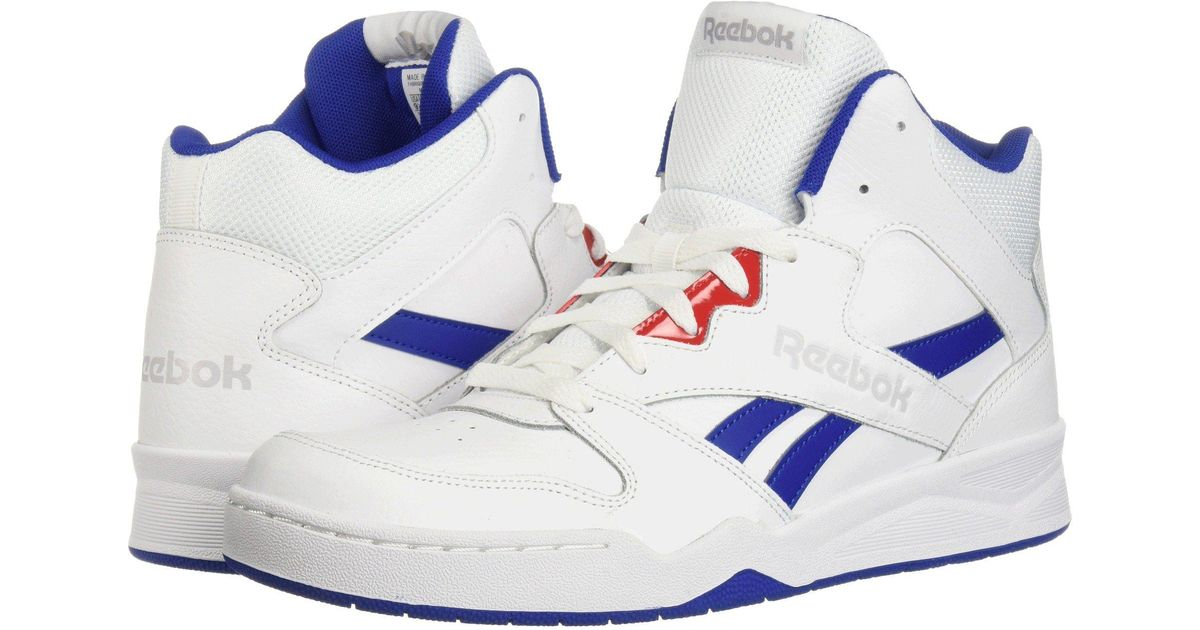 dadebcaead Reebok Gray Royal Bb4500 Hi 2 (white/collegiate Royal/primal Red/light Grey  Heather Solid Grey) Men's Shoes for men