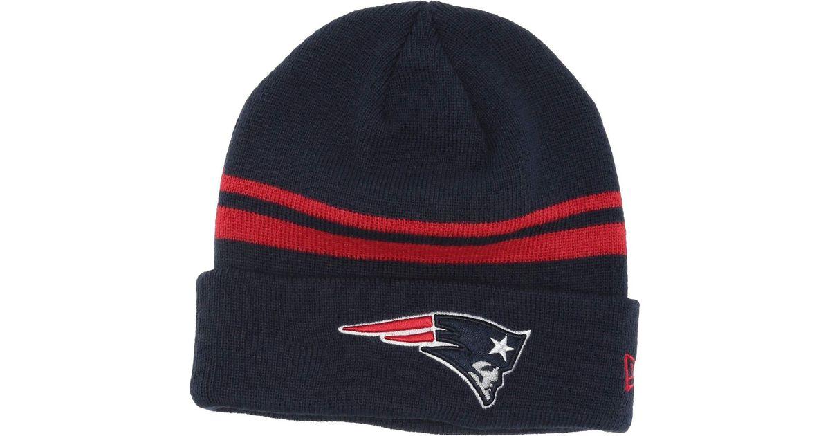 6e953699 KTZ Blue New England Patriots Cuff Knit for men