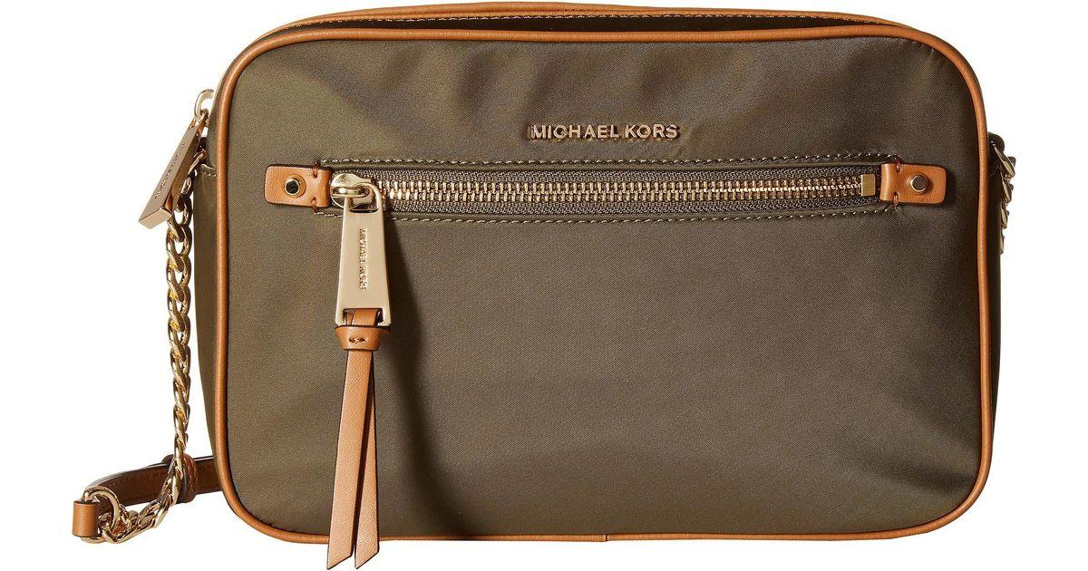 131f80c4b5af72 MICHAEL Michael Kors Polly Large East/west Crossbody (dune) Cross Body  Handbags in Green - Lyst