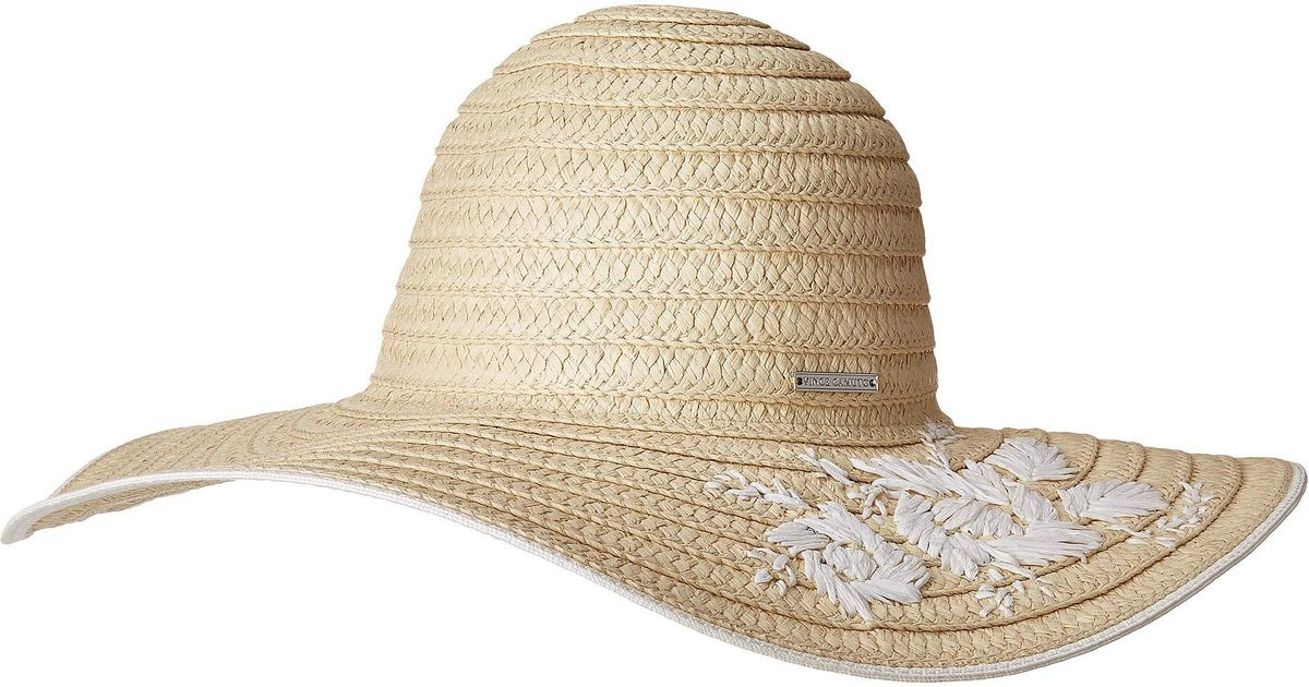 80aabb4740e Lyst - Vince Camuto Embroidered Floppy (natural) Caps in Natural
