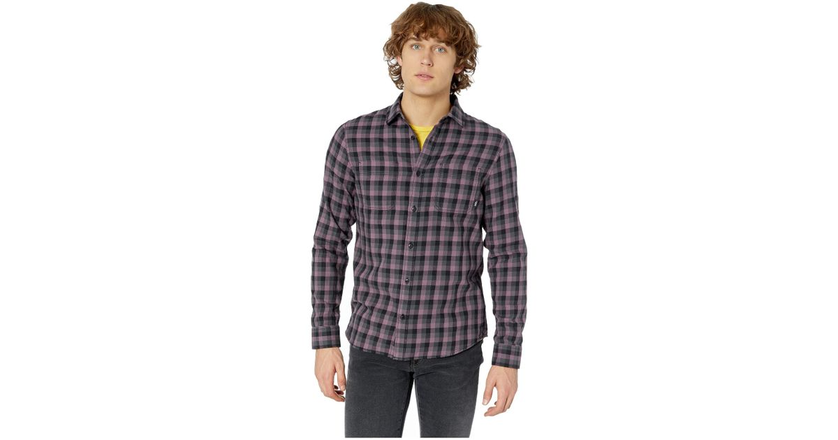 72b627bd Vans Black Alameda Ii Long Sleeve Woven Top (rhumba Red/dress Blues) Men's  Long Sleeve Button Up for men