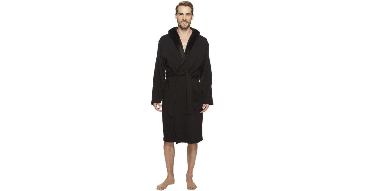 ac91cdcf64 Lyst - UGG Brunswick Robe (rock Ridge Heather) Men s Robe in Black for Men