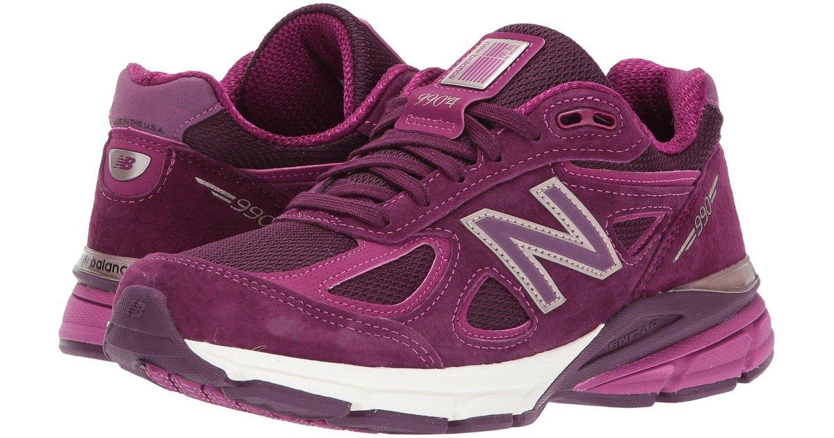 6801dc6714116 New Balance Purple 990v4 Running Shoe