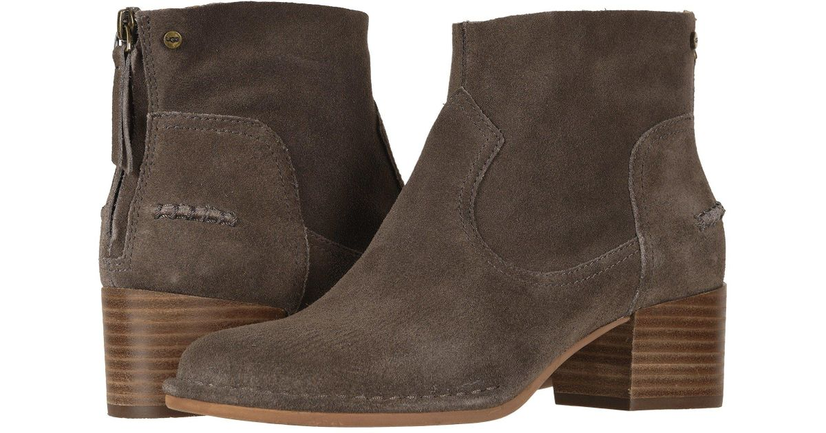 155ed592cc4 Ugg Brown Bandara Ankle Boot (chestnut) Women's Zip Boots