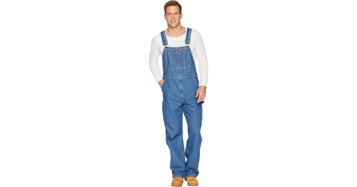 82cd96e9421 Lyst - Dickies Washed Denim Bib Overalls (stonewashed Indigo Blue) Men s  Overalls One Piece in Blue for Men