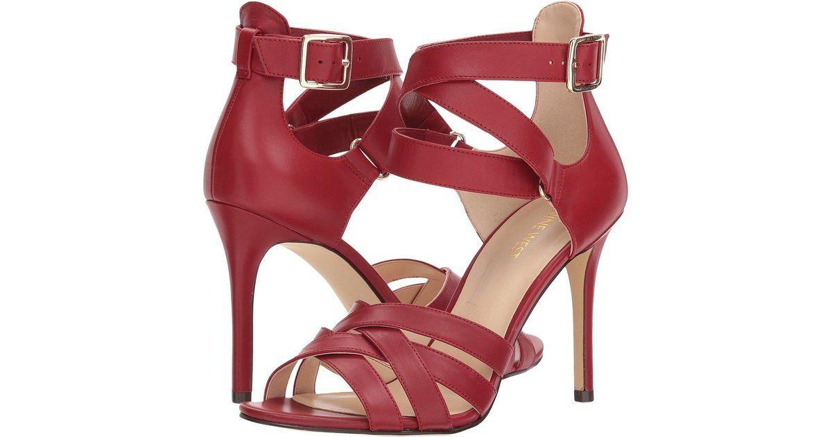 a3a0e9cc689 Nine West Red Mcglynn Heel Sandal