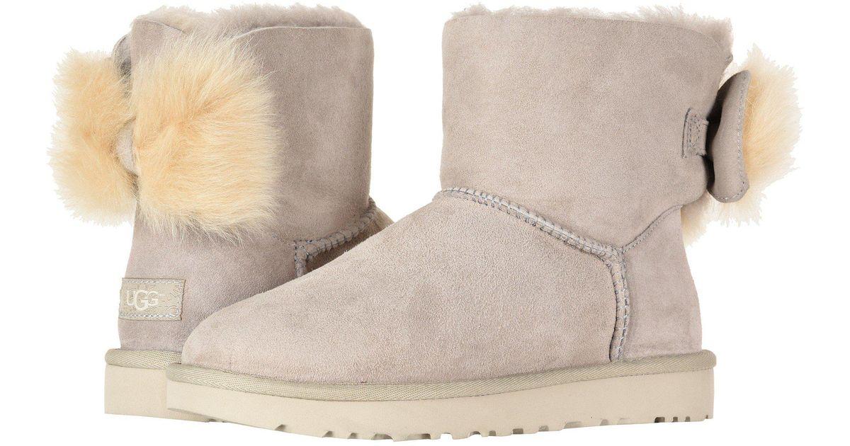 c706cd3723f Ugg Multicolor Fluff Bow Mini (suntan) Women's Pull-on Boots